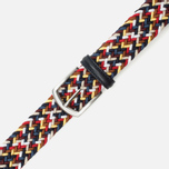 Ремень Anderson's Classic Woven Multicolor Navy/Burgundy/White фото- 2