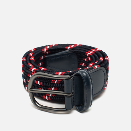 Anderson's Classic Woven Multicolor Belt Navy/Red/White