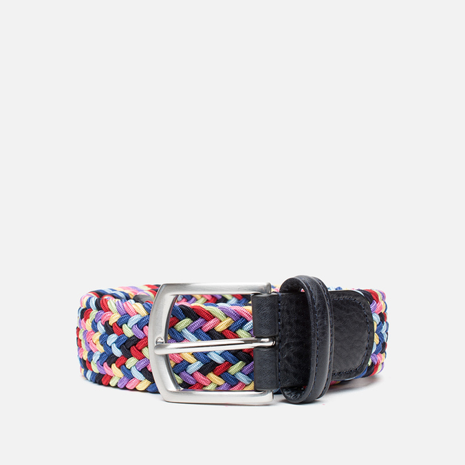 Ремень Anderson's Classic Woven Multicolor Pink/Yellow/Blue