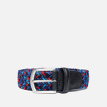 Anderson's Classic Woven Multicolor Men's Belt Purple/Navy/Red photo- 0