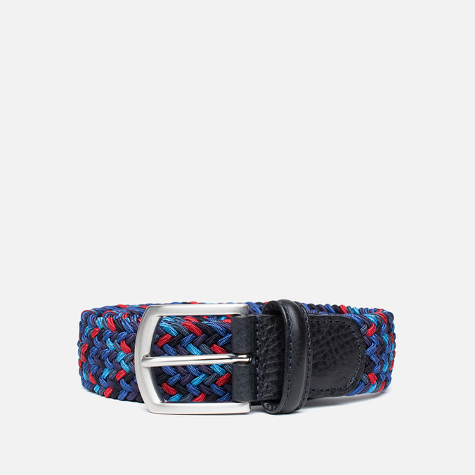 Anderson's Classic Woven Multicolor Men's Belt Purple/Navy/Red