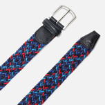 Ремень Anderson's Classic Woven Multicolor Purple/Navy/Red фото- 1