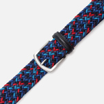 Ремень Anderson's Classic Woven Multicolor Purple/Navy/Red фото- 2