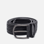 Ремень Anderson's Classic Woven Stretch Leather Black фото- 0