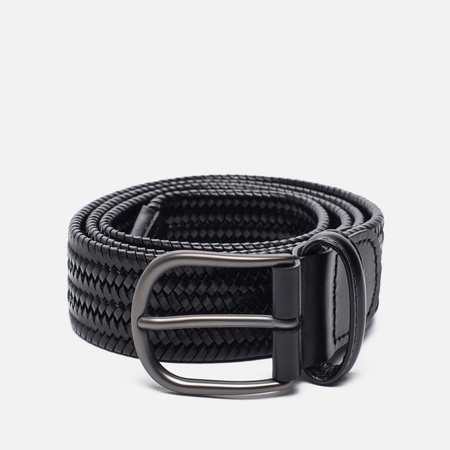 Ремень Anderson's Classic Woven Stretch Leather Black