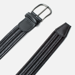 Ремень Anderson's Classic Woven Stretch Leather Black фото- 1