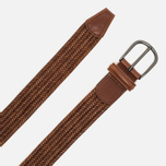 Anderson's Classic Woven Stretch Leather Belt Brown photo- 1