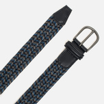 Ремень Anderson's Classic Woven Stretch Leather Multicolor Grey/Navy/Blue фото- 1