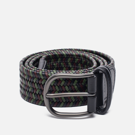 Ремень Anderson's Classic Woven Stretch Leather Multicolor Navy/Green/Brown