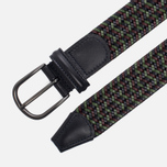 Ремень Anderson's Classic Woven Stretch Leather Multicolor Navy/Green/Brown фото- 1