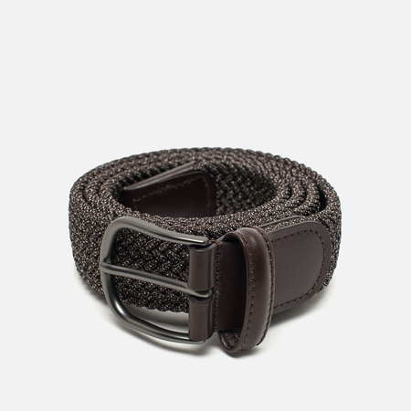 Anderson's Classic Woven Textile Belt Brown/Grey