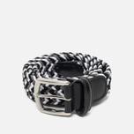Anderson's Classic Woven Textile Multicolor Belt Black/White/Grey photo- 0