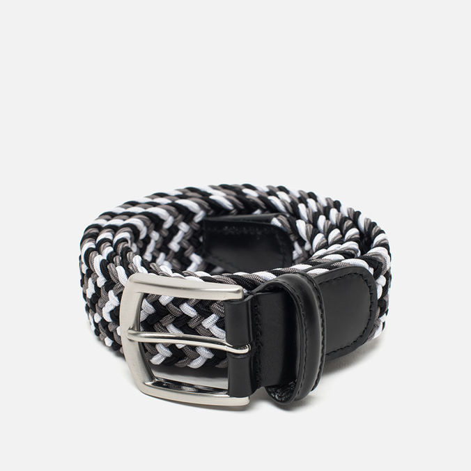 Anderson's Classic Woven Textile Multicolor Belt Black/White/Grey