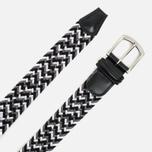 Ремень Anderson's Classic Woven Textile Multicolor Black/White/Grey фото- 1