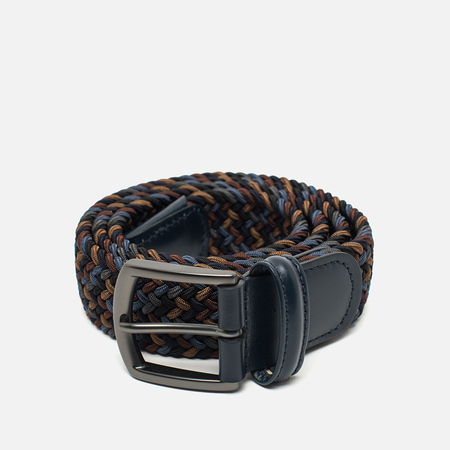 Anderson's Classic Woven Textile Multicolor Belt Blue/Navy/Grey/Brown/Sand