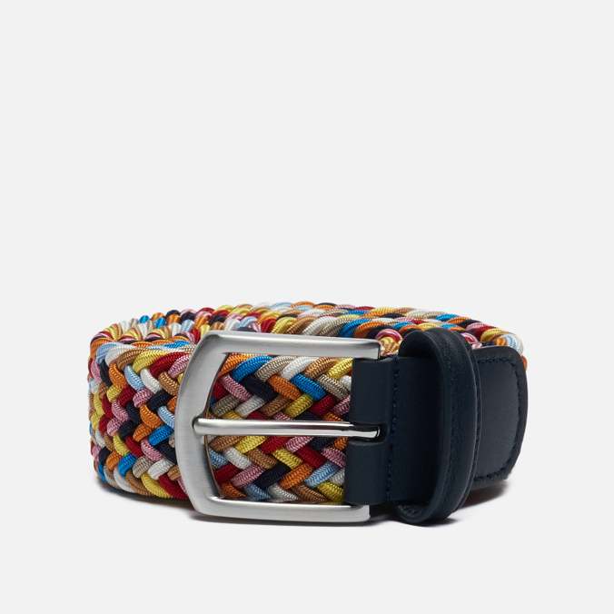 Ремень Anderson's Classic Woven Textile Multicolor Blue/Yellow/White/Orange