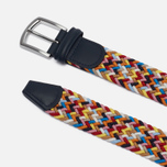 Ремень Anderson's Classic Woven Textile Multicolor Blue/Yellow/White/Orange фото- 1