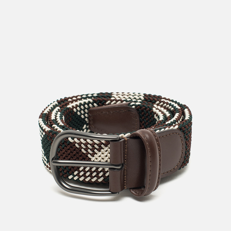 Anderson's Classic Woven Textile Multicolor Belt Brown/Beige/Green