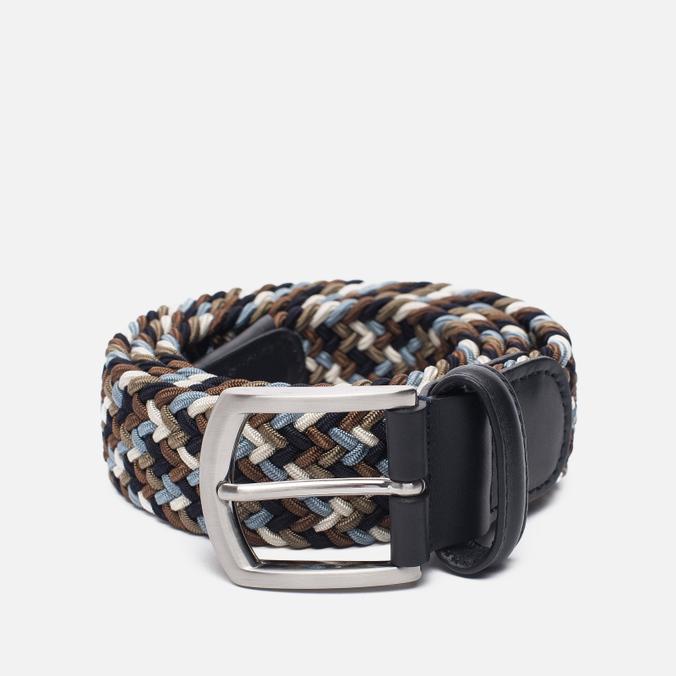 Ремень Anderson's Classic Woven Textile Multicolor Brown/Blue/White