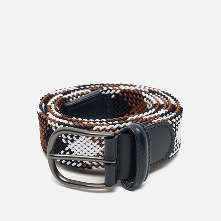 Anderson's Classic Woven Textile Multicolor Belt Brown/Navy/White