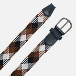 Ремень Anderson's Classic Woven Textile Multicolor Brown/Navy/White фото- 1