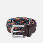 Ремень Anderson's Classic Woven Textile Multicolor Grey/Navy/Red/Beige фото- 0