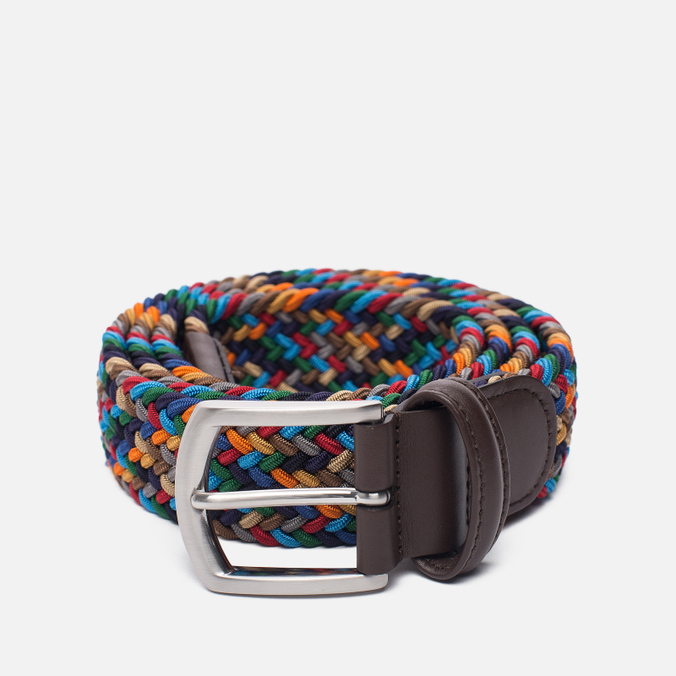 Ремень Anderson's Classic Woven Textile Multicolor Grey/Navy/Red/Beige