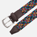 Ремень Anderson's Classic Woven Textile Multicolor Grey/Navy/Red/Beige фото- 1