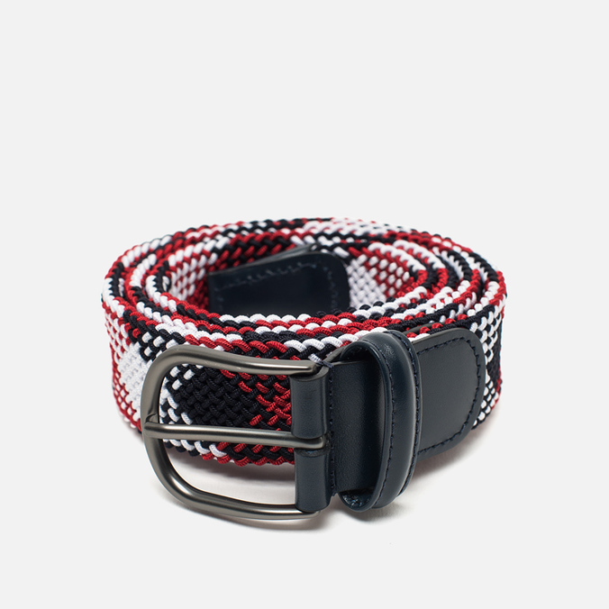 Anderson's Classic Woven Textile Multicolor Belt Navy/White/Red