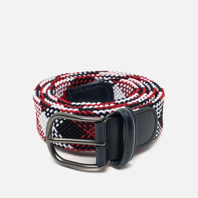 Ремень Anderson's Classic Woven Textile Multicolor Navy/White/Red