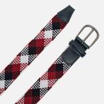 Ремень Anderson's Classic Woven Textile Multicolor Navy/White/Red фото- 1