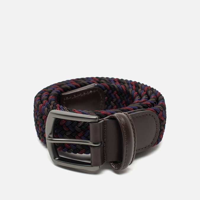 Anderson's Classic Woven Textile Multicolor Belt Purple/Green/Olive/Burgundy