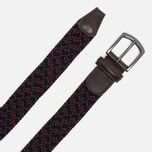 Anderson's Classic Woven Textile Multicolor Belt Purple/Green/Olive/Burgundy photo- 1