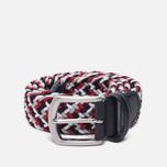 Ремень Anderson's Classic Woven Textile Multicolor Red/Black/White фото- 0