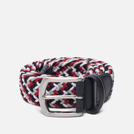 Ремень Anderson's Classic Woven Textile Multicolor Red/Black/White