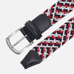 Ремень Anderson's Classic Woven Textile Multicolor Red/Black/White фото- 1