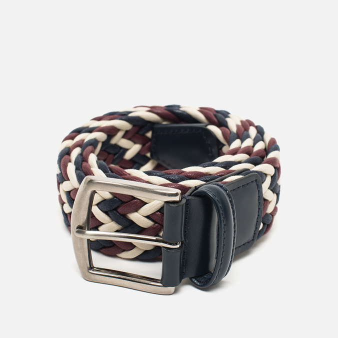 Anderson's Classic Woven Laminated Textile Multicolor Belt Red/White/Navy