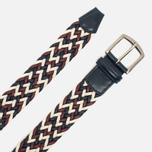 Ремень Anderson's Classic Woven Laminated Textile Multicolor Red/White/Navy фото- 1