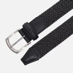 Ремень Anderson's Classic Woven Textile Black/White фото- 1