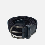 Anderson's Classic Woven Textile Belt Navy photo- 0