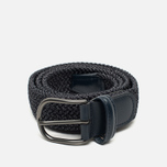 Anderson's Classic Woven Textile Belt Navy/Grey photo- 0