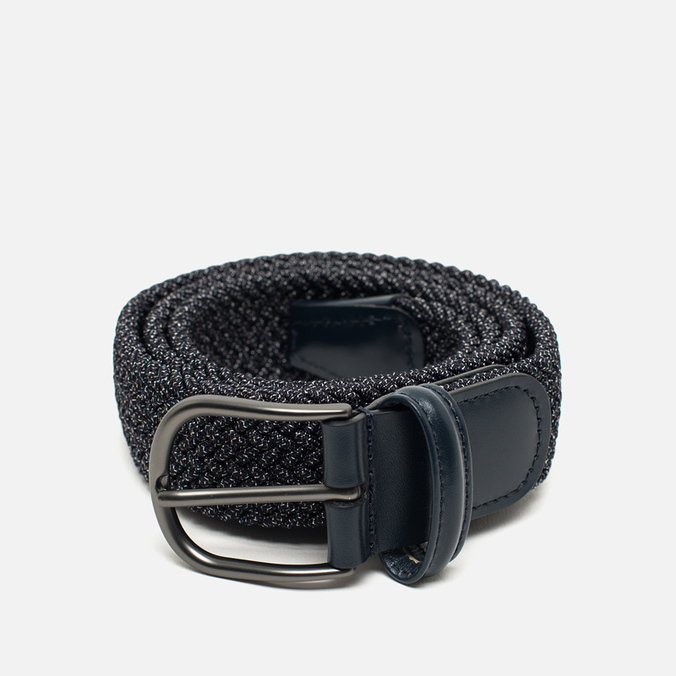 Anderson's Classic Woven Textile Belt Navy/Grey