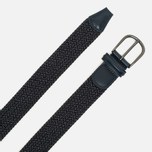 Anderson's Classic Woven Textile Belt Navy/Grey photo- 1