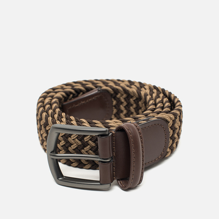 Anderson's Classic Woven Textile Multicolor Belt Dark Brown/Sand