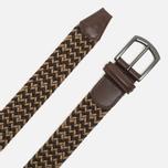 Ремень Anderson's Classic Woven Textile Multicolor Dark Brown/Sand фото- 1