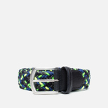 Anderson's Glow Woven Multicolor Belt Green/Yellow/Black photo- 0