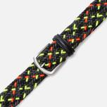 Anderson's Glow Woven Multicolor Belt Orange/Green/Black photo- 2