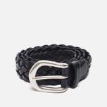 Ремень Anderson's Leather Woven Black фото- 0