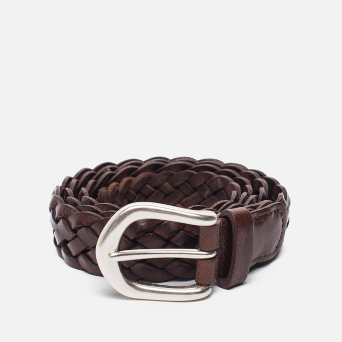 Ремень Anderson's Leather Woven Tan