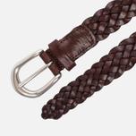 Ремень Anderson's Leather Woven Tan фото- 1